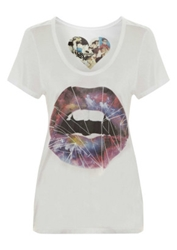 Simdog Cosmic Lips Tee In White