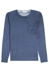 Closed Wool Cashmere Pullover Blue