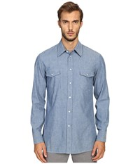 Marc Jacobs Slim Fit Chambray Button Up Blue Men's Clothing