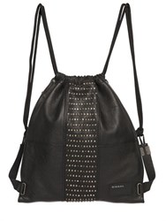 Diesel Studded Leather Drawstring Backpack