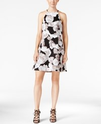 Bcbgeneration Printed Fit And Flare Dress Black White