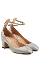 Valentino Patent Leather Tan Go Pumps Grey