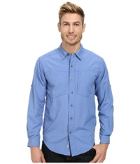 Exofficio Geotrek'r L S Top Cayman Men's Long Sleeve Button Up Navy