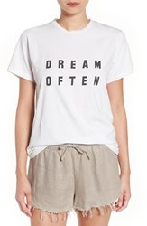 Sincerely Jules Women's 'Dream Often' Graphic Tee White
