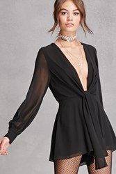 Forever 21 Pleated Chiffon Romper