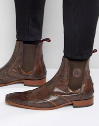 Jeffery West Scarface Leather Chelsea Boot Brown