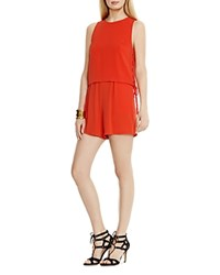 Vince Camuto Lace Up Romper Fiery Red
