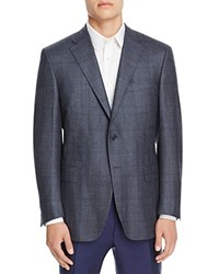 Canali Siena Plaid With Klein Deco Classic Fit Sport Coat Grey
