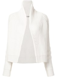 Vince Shawl Collar Cardigan White