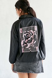Obey City Coach Jacket Black