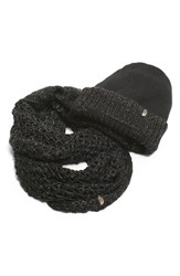 The North Face Women's Shinsky Knitting Club Boxed Infinity Scarf And Beanie Black Tnf Black 24K Gold