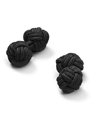 The Men's Store At Bloomingdale's Round Knot Cufflinks Black