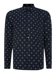 Peter Werth Keller Propeller Print Shirt Navy