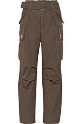 Marc Jacobs Wool Twill Cargo Pants Green