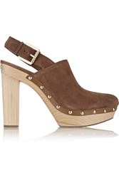 Michael Michael Kors Beatrice Suede Clogs Brown