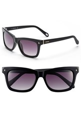 Women's Fossil 'Brynn' 52Mm Retro Sunglasses Black