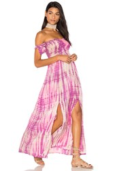Tiare Hawaii Hollie Off The Shoulder Maxi Dress Purple