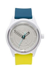 Quest Quality 'Smilesolar' Solar Powered Strap Watch 40Mm Teal Silver