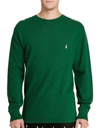 Polo Ralph Lauren Waffle Knit Crewneck Sweater Holiday Green