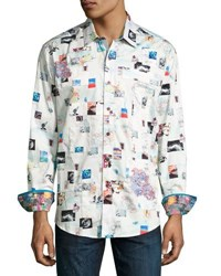 Robert Graham Badlands Woven Button Front Shirt Multi