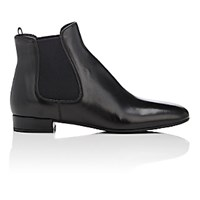 Prada Women's Square Toe Chelsea Boots Black