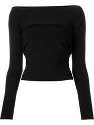T By Alexander Wang Cut Out Longlseeved T Shirt Black