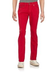 True Religion Straight Leg Jeans Red