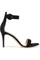 Gianvito Rossi Suede Sandals Black