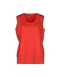 Xandres Sleeveless Sweaters Red