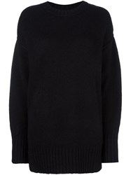 R 13 R13 Loose Fit Sweater Black