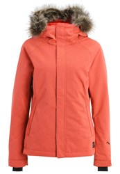 O'neill Curve Snowboard Jacket Poppy Red Coral