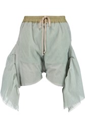 Rick Owens Flared Tulle Shorts Green