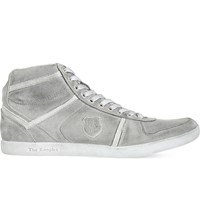 The Kooples Suede High Top Trainers Anthracite