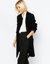 Just Female Clea Ovoid Coat In Black
