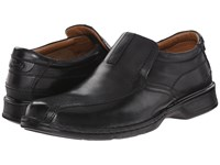 Clarks Escalade Step Black Leather Men's Slip On Shoes