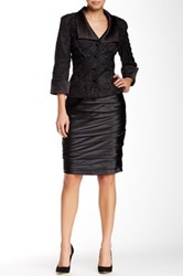 Js Collections Pleated Satin Skirt Black