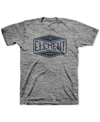 Element Men's Graphic Print T Shirt Grey
