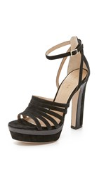 Tamara Mellon Supreme Platform Sandals Black