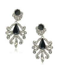 Abs By Allen Schwartz Chandelier Pierced Earrings Black