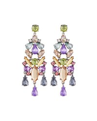 Fragments For Neiman Marcus Multihued Crystal Statement Chandelier Earrings Multi Colo