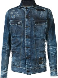11 By Boris Bidjan Saberi Denim Jacket Blue