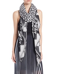 Dkny Pure Patterned Scarf Black