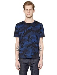 Valentino Camouflage Printed Cotton Jersey T Shirt