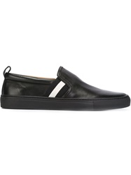 Bally Striped Detail Slip On Sneakers Black