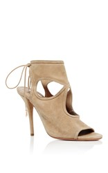 Aquazzura Sexy Thing Cutout Sandals Nude