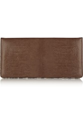 Stella Mccartney Margaret Faux Leather And Leopard Print Canvas Clutch Brown