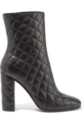 Gianvito Rossi Quilted Leather Boots Black