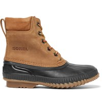 Sorel Cheyanne Waterproof Suede And Rubber Boots Tan