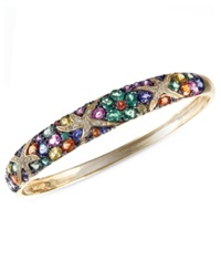 Effy Collection Watercolors By Effy Multicolor Sapphire 7 5 8 Ct. T.W. And Diamond 1 4 Ct. T.W. Starfish Bangle In 14K Gold