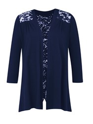 Grace Made In Britain Lace Shrug Navy
